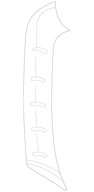 Porsche OEM Windshield Pillar Trim Part# 996-555-182-14