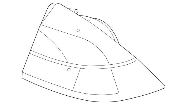 Genuine OEM 2006-2009 Mercury Milan Tail Lamp 6N7Z-13405-B