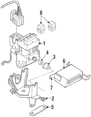 ABS COMPONENTS for 1997 Mercury Villager