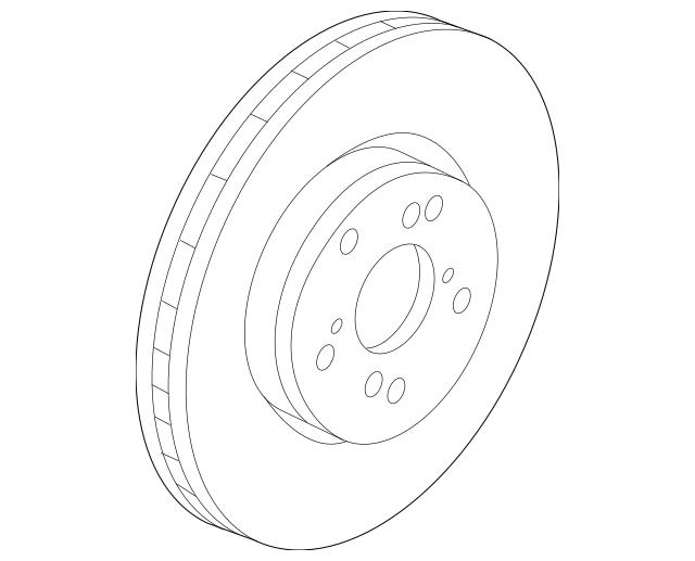 2014-2016 Acura MDX 5-DOOR Disk, Front Brake (17