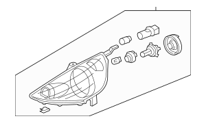 2009-2011 Honda FIT 5-DOOR Headlight Assembly, L 33150-TK6
