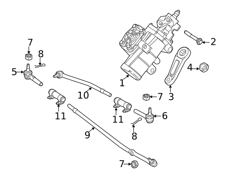 Steering Gear & Linkage for 2017 Ford E-350 Super Duty