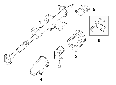 Steering Column Assembly for 2007 Mercury Mariner