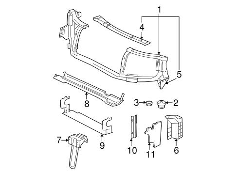 Radiator Support for 2002 Oldsmobile Bravada (Base