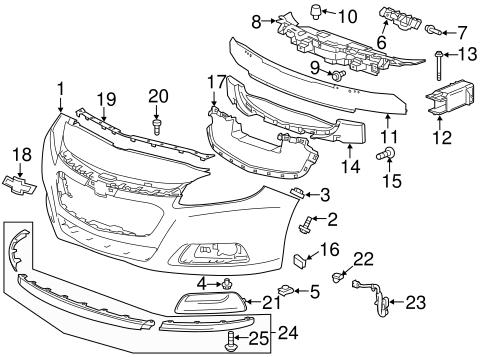 23146557 Bumper Cover for 2015 Chevrolet Malibu : GM Parts