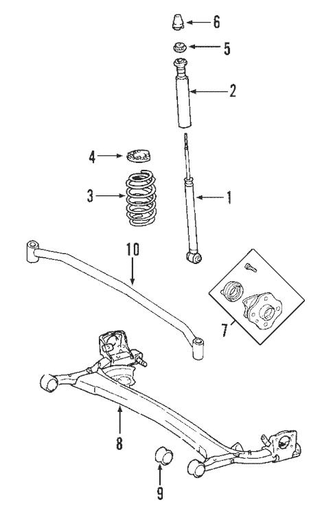 Genuine OEM Rear Suspension Parts for 2004 Toyota Prius