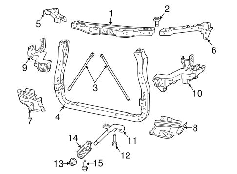 Jeep Body Radiator Support parts for a 2012 Jeep Grand