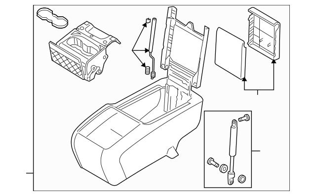 2010-2015 Audi Q7 Console Assembly 4L0-863-242-J-1LV