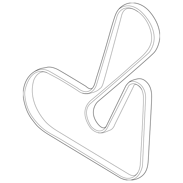 2012-2015 Chevrolet Captiva Sport Serpentine Belt 12653318