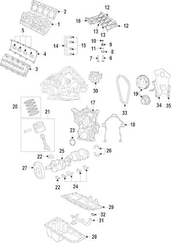 Engine Parts for 2016 Dodge Challenger