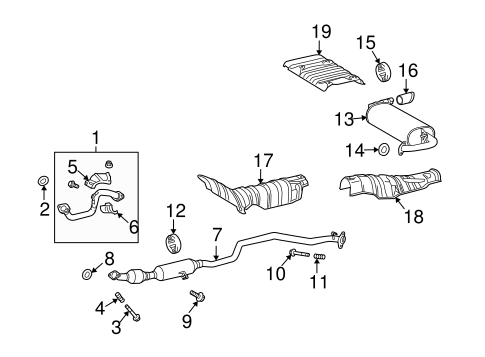 Exhaust Components for 2010 Toyota Matrix