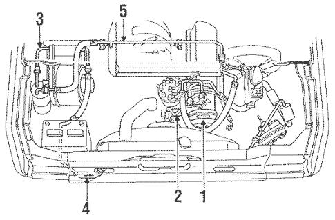 Condenser, Compressor & Lines for 1990 Ford E-350
