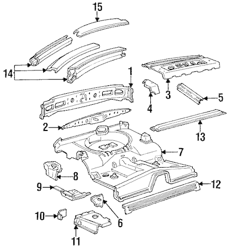 REAR BODY for 1992 Ford Mustang