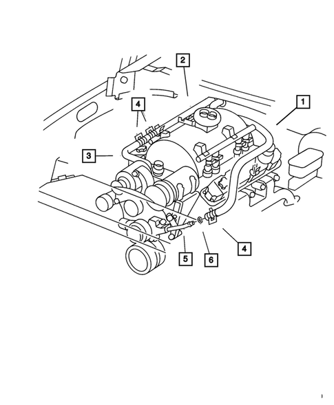 Air Conditioner and Heater Plumbing for 2001 Dodge Ram