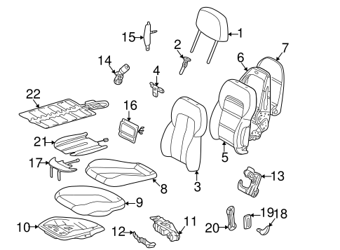 FRONT SEAT COMPONENTS for 2000 Mercedes-Benz CLK430