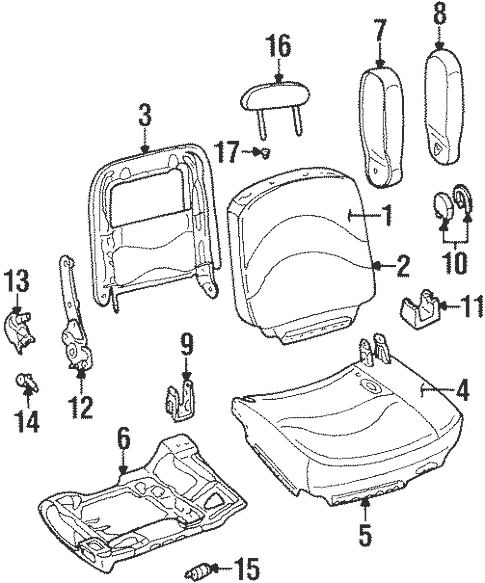 Front Seat Components for 2001 Mercury Grand Marquis