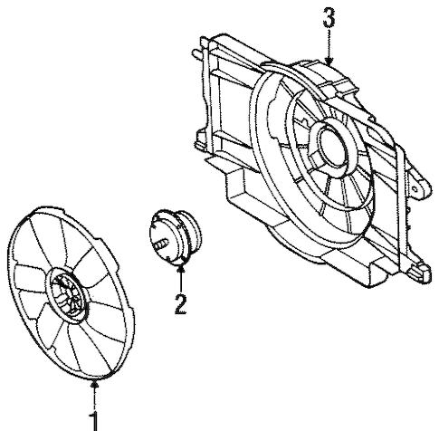 COOLING FAN Parts for 2001 Saturn SL1