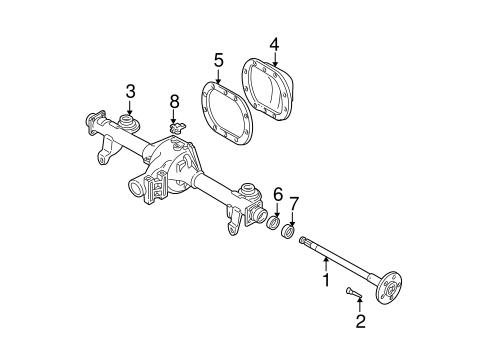 OEM 2001 Chevrolet Camaro Axle Components Parts