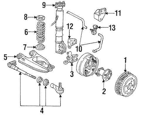 OEM STABILIZER BAR & COMPONENTS for 1995 Oldsmobile 98