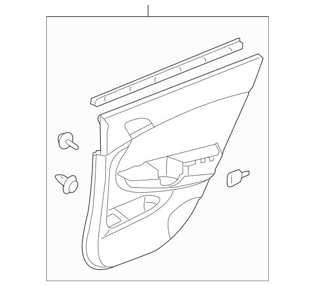 2013-2015 Honda CROSSTOUR 5-DOOR Lining, L Rear Door