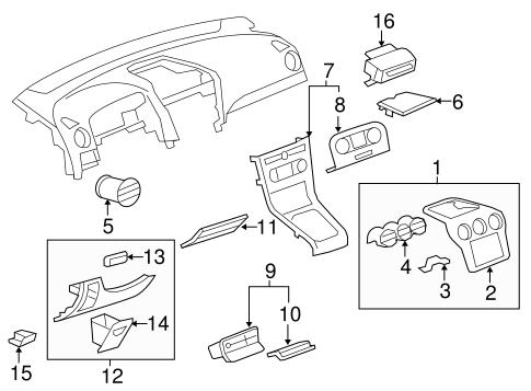 OEM 2012 Chevrolet Captiva Sport Instrument Panel
