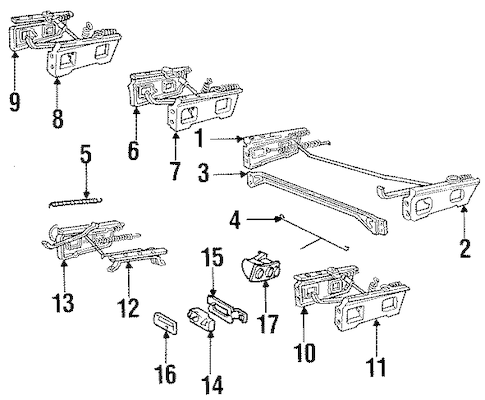 OEM TRACKS & COMPONENTS for 1990 Chevrolet C1500