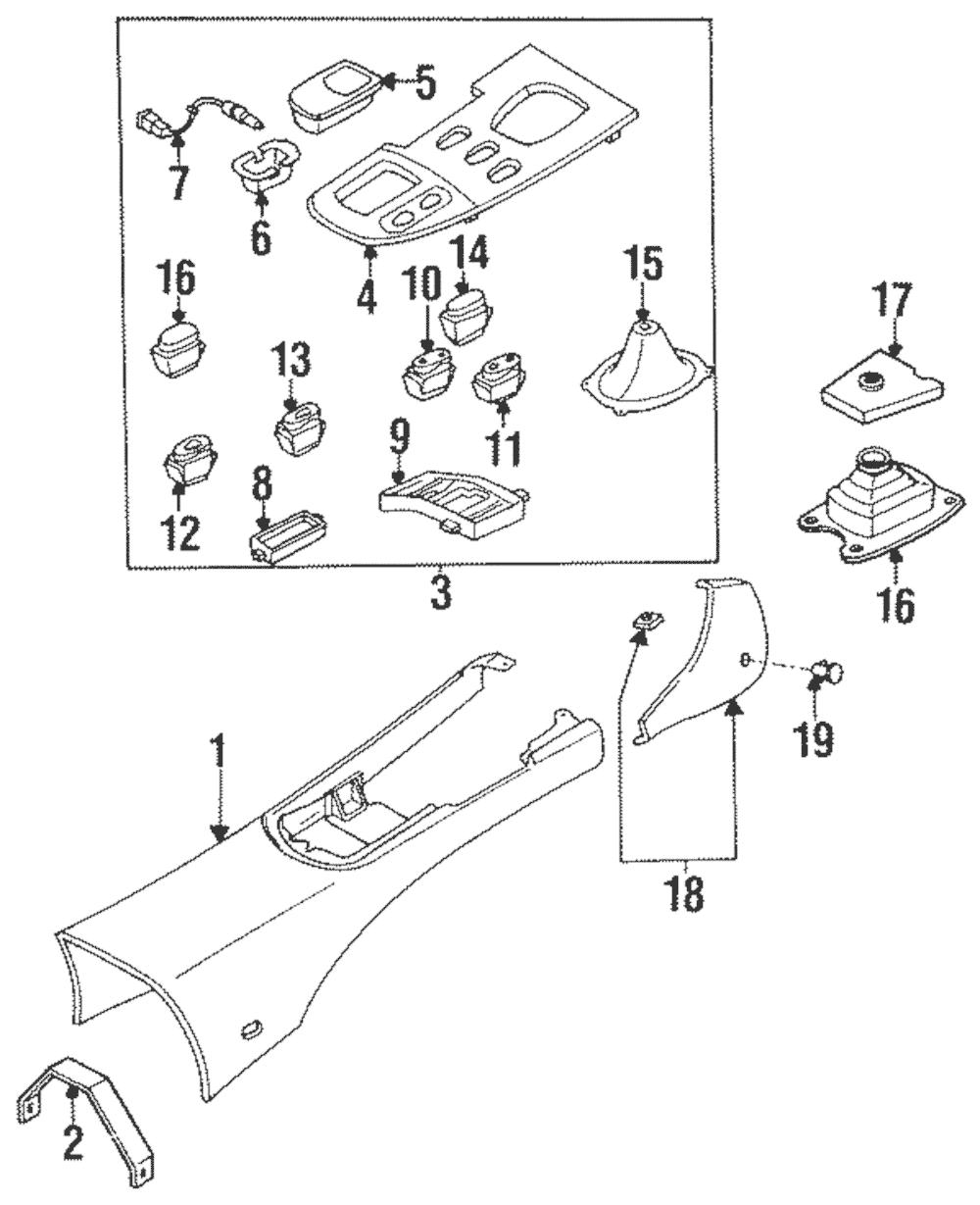 1993-1995 Mazda RX-7 Shifter Dust Boot Insulator OEM FD01