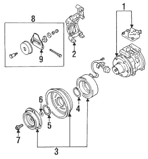 Condenser, Compressor & Lines for 1995 Mitsubishi Eclipse