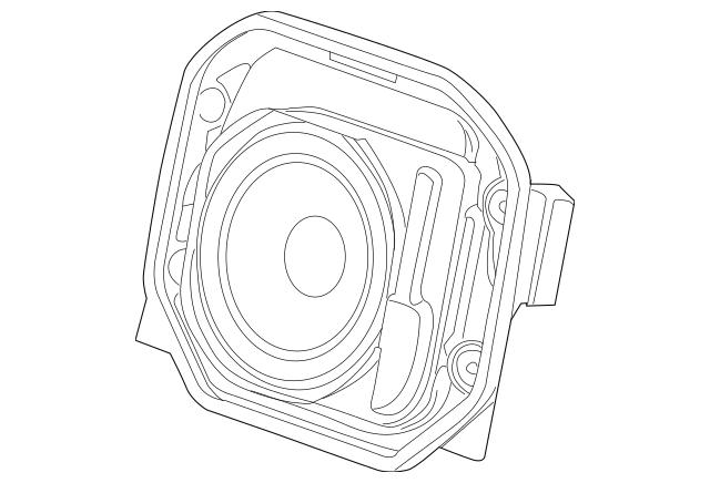 2011-2015 Chevrolet Camaro Rear Speaker 92200778