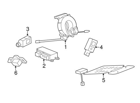OEM 2016 Cadillac ATS Air Bag Components Parts