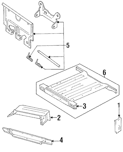 Service manual [1993 Jeep Wrangler Digram For A Rear Floor