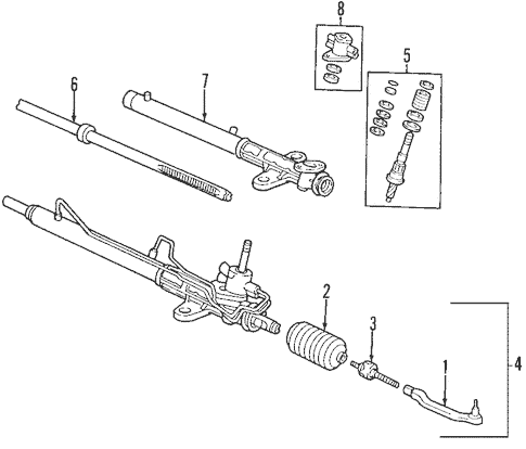 Entourage Steering/Steering Gear & Linkage Parts