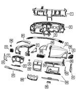2011-2014 Dodge Avenger Instrument Panel Bezel 1SX94DX9AB