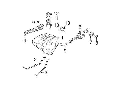 FUEL SYSTEM COMPONENTS for 2003 Nissan Altima