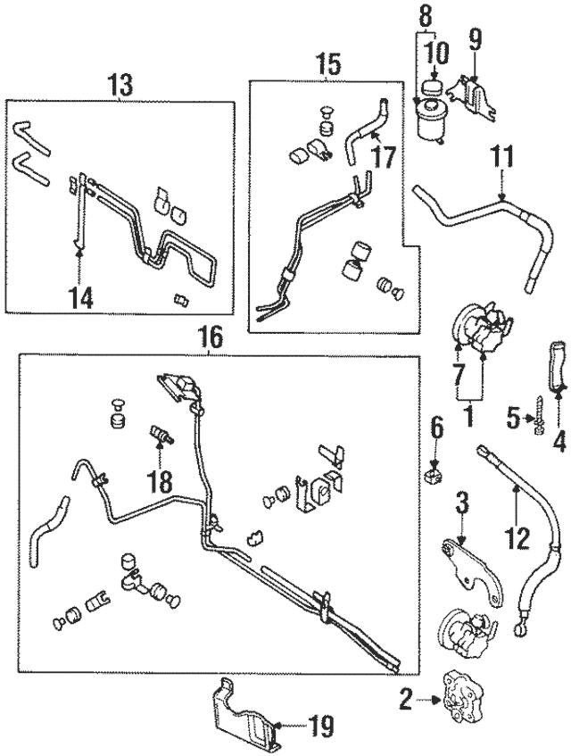 1995-1999 Nissan Maxima Power Steering Pump Adjust Bracket