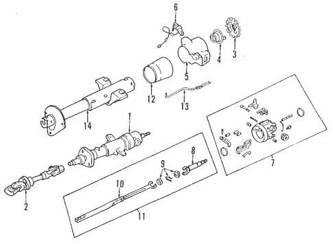 Steering Column for 2001 Pontiac Firebird (Trans Am