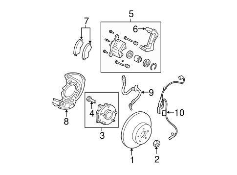 Genuine OEM Front Brakes Parts for 2012 Toyota RAV4 Base