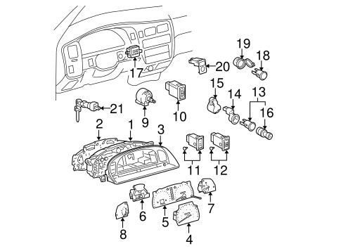 Genuine OEM Cluster & Switches Parts for 2004 Toyota