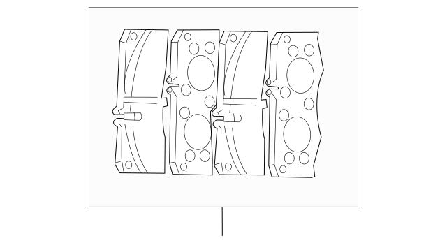 Mercedes-Benz Ts Disk Brake Pad 164-420-22-20-64