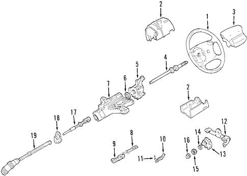 STEERING COLUMN for 2002 Mazda B2300