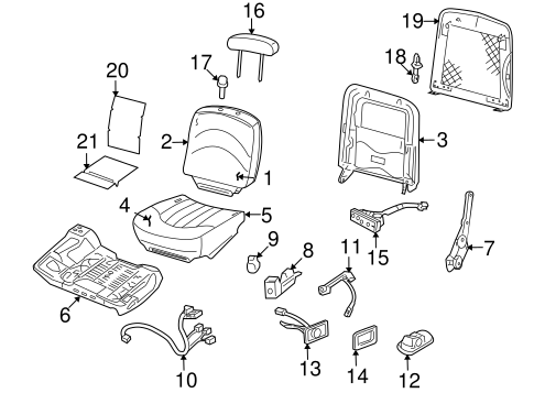 Front Seat Components for 2009 Mercury Grand Marquis