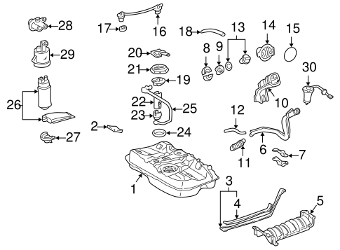 Genuine OEM FUEL SYSTEM COMPONENTS Parts for 1999 Toyota