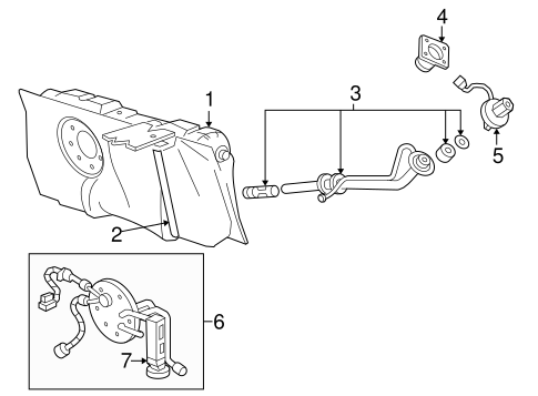 Fuel System Components for 2004 Mercury Grand Marquis