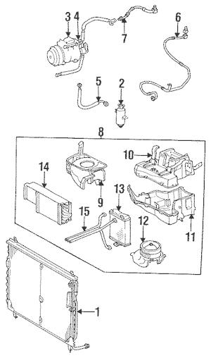 Condenser, Compressor & Lines for 1985 Mercedes-Benz 380