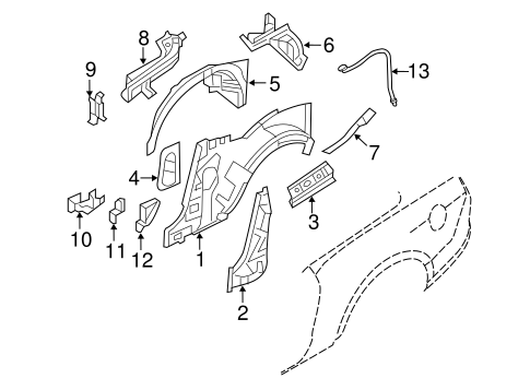 Inner Structure for 2012 Ford Mustang