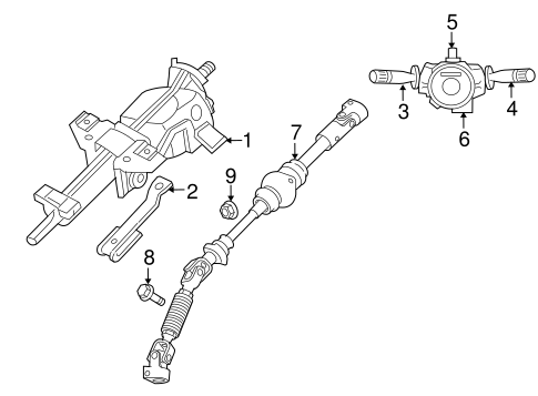 Steering Column Assembly for 2007 Jeep Commander Parts
