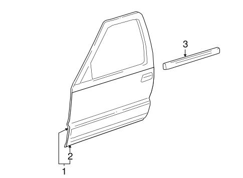OEM DOOR & COMPONENTS for 2007 Chevrolet Trailblazer