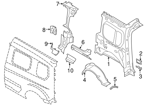 INNER STRUCTURE for 2014 Ford Transit Connect