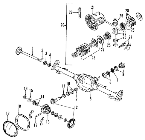 REAR AXLE for 2002 Chevrolet Blazer