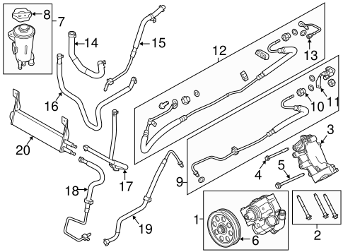 OEM 2011 Ford F-350 Super Duty Pump & Hoses Parts